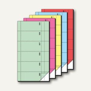 Sigel Bonbuch, 360 Abrisse, Blaupapier, 105x200 mm, sortiert, 5er Pack, BO082