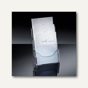 Sigel Tisch-Prospekthalter, DIN A4, 3 Fächer, Fülltiefe 30 mm, Acryl, LH130