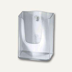 Sigel Wand-Prospekthalter, DIN lang, 1 Fach, Acryl, glasklar, LH117