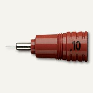 Rotring Ersatzkegel Rapidograph 0.10 mm, rot/braun, S0218960