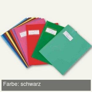 "Elba Heftschoner ""Styl'SMS"", 170x220mm, PVC, schwarz, 25 Stück, 400021210"