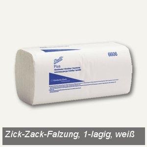 Scott® Plus Handtücher klein 24.7 x 23 cm, Zick-Zack-Falzung, weiß, 3.600 St., 6
