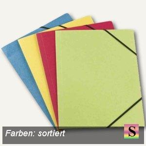Eckspannermappe Carte Forte, A4, 3 Klappen, Karton, sortiert, 50er-Pack, 1002006