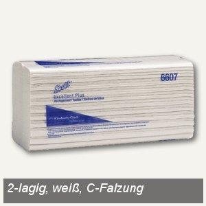 Handtücher Excellent Plus medium 25 x 33 cm, C-Falzung, weiß 2.200 St., 6607