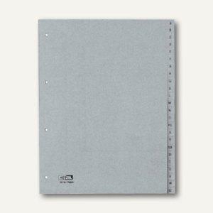 "Hetzel Buchstabenregister ""A-Z"", DIN A4, PP, grau, 24-tlg., 25650481"