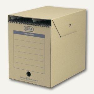Elba Hängemappen-Archiv tric System maxi, Pappe, naturbraun, 6 St., 100421090