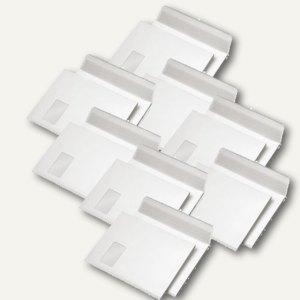 Artikelbild: Faltentasche C4 mit Fenster weiß mit Spitzboden haftklebend 250 St.