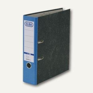 Elba Ordner smart Wolkenmarmor, Rückenbreite: 80 mm, blau, 100023246