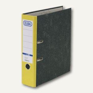 Elba Ordner smart Wolkenmarmor, Rückenbreite: 80 mm, gelb, 100023247