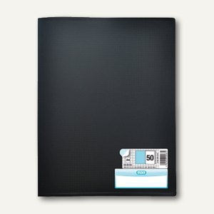 """Elba Sichtbuch """"Memphis"""", DIN A4, mit 50 Hüllen, PP, schwarz, 100205855"""
