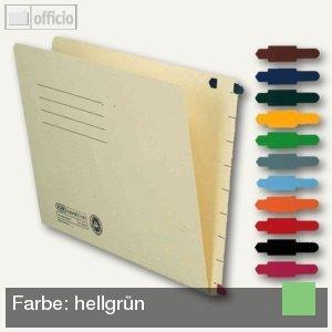 Elba Stecksignal für Einstellmappen, 15 x 55 mm, PVC hellgrün, 100 St.,100420851