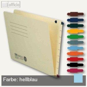 Elba Stecksignal für Einstellmappen, 15 x 55 mm, PVC hellblau, 100 St.,100420853