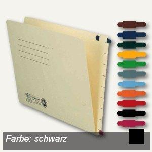 Elba Stecksignal für Einstellmappen, 15 x 55 mm, PVC schwarz, 100 St., 100420859
