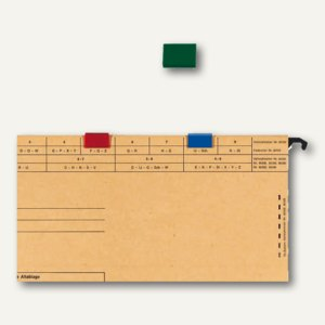 Farbreiter für Elba vertic, zum Aufstecken, PVC, dklgrün, 25 Stück, 100420884