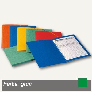 Elba Eckspannermappe, DIN A4, ohne Klappen, Karton 390 g/qm, grün, 100200268