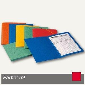 Elba Eckspannermappe, DIN A4, ohne Klappen, Karton 390 g/qm, rot, 100200267