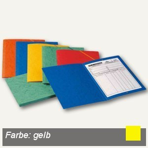 Elba Eckspannermappe, DIN A4, ohne Klappen, Karton 390 g/qm, gelb, 100200266