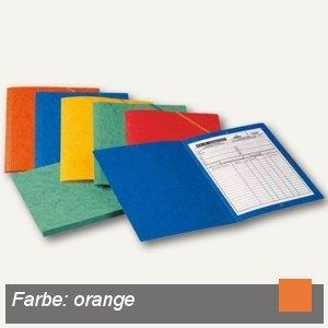 Elba Eckspannermappe, DIN A4, ohne Klappen, Karton 390 g/qm, orange, 100200265