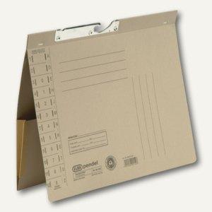 Elba Pendelhefter mit Tasche, Amtsheftung, 320 g/m², grau, 50 Stück, 100570021