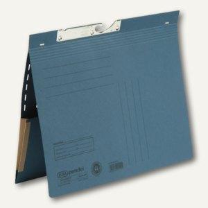 Elba Pendelhefter mit Tasche, kaufm.Heftung, 320 g/qm, blau, 50 St., 100570023