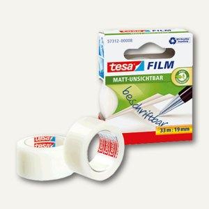 Tesa Film, 19 mm x 33 m, beschriftbar, ablösbar, unischtbar/matt, 57312-00008-01