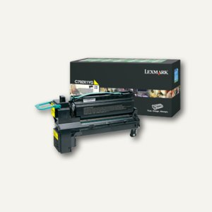Lexmark Rückgabe-Lasertoner für C792, ca. 20.000 Seiten, gelb, C792X1YG