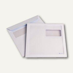 Kuvertierhülle 220x220mm, Panorama-& Adressfenster haftkl. 120g/m² weiß, 250 St.