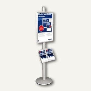 Franken Infodisplay 1-seitig DIN A1 mit Prospektfach für 2x DIN A4, Alu, BS1503