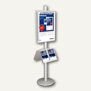 Artikelbild: Infodisplay 2-seitig DIN A2 + 2 Prospektfächer je 2x DIN A4