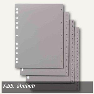"""Elba Kunststoff-Register """"Zahlen 1-12"""" DIN A4+, PP, grau, 100204815"""
