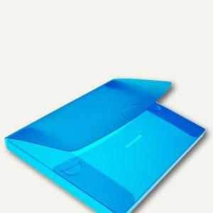 dataplus Sammelmappe, DIN A4, bis 200 Blatt, blau-transparent, 10 St., 27420810