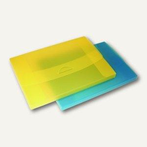 dataplus Sammelmappe, DIN A4, bis 200 Blatt, gelb-transparent, 10 St., 27420860