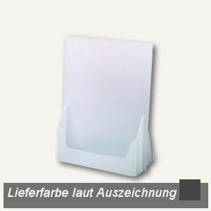 dataplus Tisch-Prospektständer A4, anthrazit, 10 Stück, 61040045
