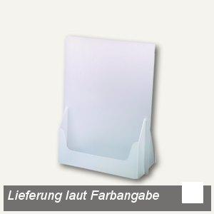 dataplus Tisch-Prospektständer A6, weiß, 10 Stück, 61060070