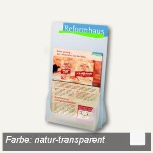 dataplus Tisch-Prospektständer A5 plus, natur-transparent, 10 Stück, 61152086