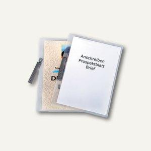 dataplus Klemmhefter mit Tasche, DIN A4, transparent, 20 Stück, 26043086