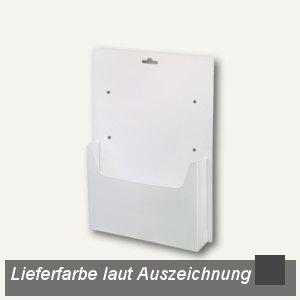 dataplus Wandprospekthalter A4, anthrazit, 20 Stück, 62040045
