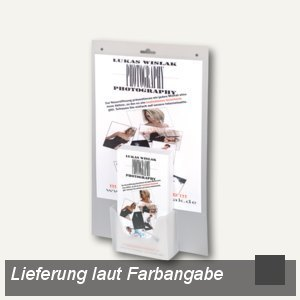 Wandprospekthalter Lang DIN mit A4 Tasche
