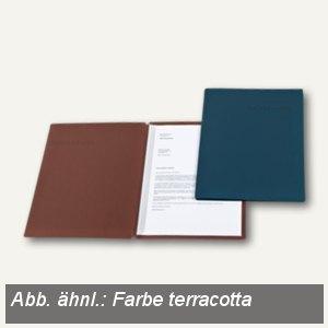 Bewerbungsmappe Slide S, A4, 320g/m², Prägung, terracotta, 25St., 22541050
