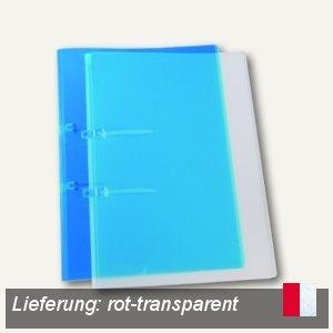 Schnellhefter UNO, DIN A4, Stripbinder, rot-transparent, 25 Stück, 25442820