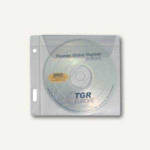dataplus CD-Tasche mit Einsteckfach PVC, natur-transparent, 50 Stück, 37061086