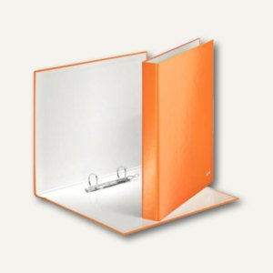 LEITZ Ringbuch WOW - DIN A4, Hartpappe, Rücken: 40mm, orange-metallic,4241-00-44
