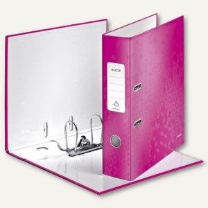 LEITZ Ordner WOW, 180 Grad, DIN A4, 80 mm, pink-metallic, 1005-00-23