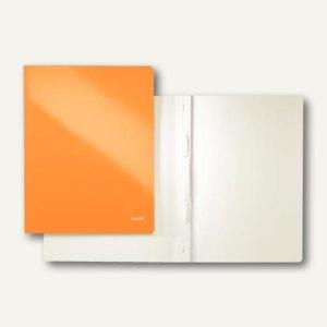 LEITZ Schnellhefter WOW, DIN A4, Karton, orange metallic, 10 Stück, 3001-00-44