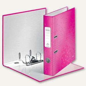 LEITZ Ordner WOW, 180 Grad, DIN A4, 50 mm, pink-metallic, 1006-00-23