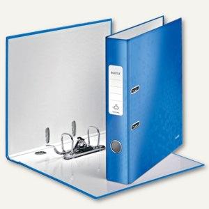 LEITZ Ordner WOW, 180 Grad, DIN A4, 50 mm, blau-metallic, 1006-00-36