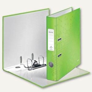 LEITZ Ordner WOW, 180 Grad, DIN A4, 50 mm, grün-metallic, 1006-00-64