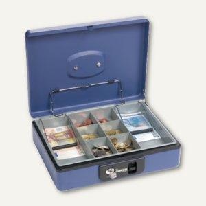 Artikelbild: Geldkassette blau mit Tastenöffnung und Klammer