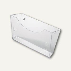 Helit Wandhalter für Prospekthalter, aus Polystyrol, glasklar, H6103002