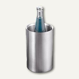 Flaschenkühler, gebürsteter Edelstahl, doppelwandig, Ø12 x H19.5 cm, 199-314